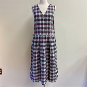 Vintage Dresses - vintage red and green plaid dress